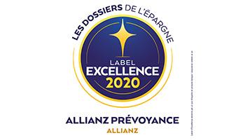 Label d'Excellence 2020 Prévoyance de l'agence  Allianz Rodez - Lucas & Marion DE LAPANOUSE