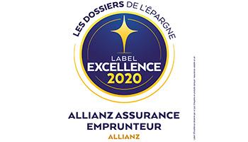 Label d'Excellence 2020 Emprunteur de l'agence  Allianz Rodez - Lucas & Marion DE LAPANOUSE
