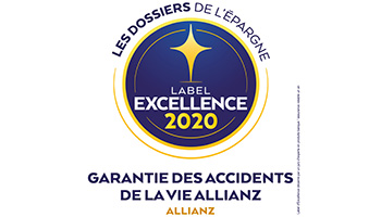 Label d'Excellence 2020 Garantie des accidents de la vie de l'agence  Allianz Asnieres - Frederic MOIRET