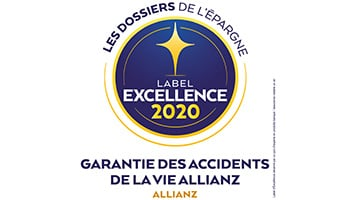 Label d'Excellence 2020 Garantie des accidents de la vie de l'agence  Allianz Rodez - Lucas & Marion DE LAPANOUSE